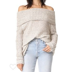 NWOT BB Dakota Grey Tegan Knit Sweater